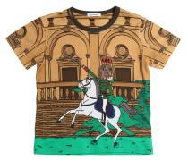 T-SHIRT AUS BAUMWOLLJERSEY MIT DRUCK 'HORSE'