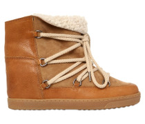 70MM HOHE WEDGESTIEFEL AUS SHEARLING 'NOWLES'