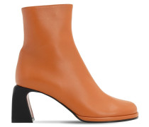 75MM CHAE LEATHER ANKLE BOOTS