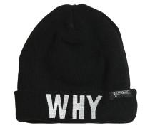 BEANIEMÜTZE AUS WOLLMISCHSTRICK 'WHY/WHY NOT'