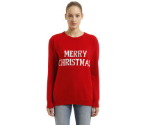 PULLOVER AUS WOLLMISCHUNG 'MERRY CHRISTMAS'