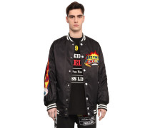 BOMBERJJACKE AUS CANVAS MIT PATCHES