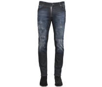 17CM ENGE JEANS AUS STRETCH-DENIM