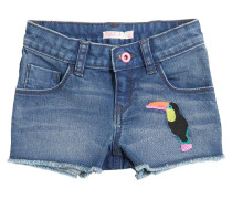 SHORTS AUS STRETCH-DENIM MIT TUKAN