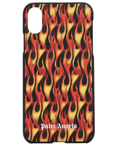 IPHONE XS-COVER MIT FLAMMENDRUCK