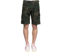 AVIATION CAMO COTTON RIPSTOP SHORTS
