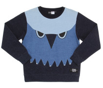 SWEATSHIRT AUS BAUMWOLLPATCHWORK 'OWL'
