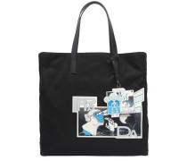 TOTE AUS NYLON MIT JAMES JEAN-PATCH