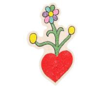 ANSTECKNADEL MIT KUNSTPERLEN 'HEART & FLOWERS'