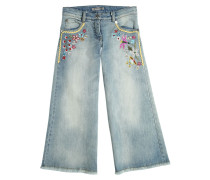 GAUCHOJEANS AUS STRETCH-DENIM