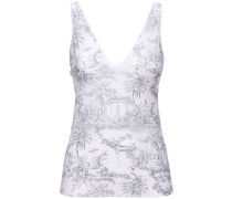 ANTOINETTE PRINTED STRETCH JERSEY TOP