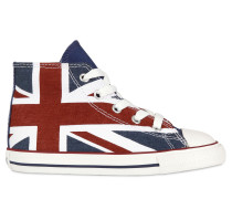 UNION JACK HOHE SNEAKERS AUS SEGELTUCH
