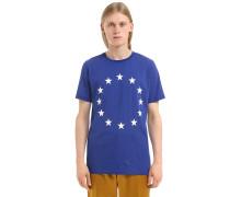 T-SHIRT AUS BAUMWOLLJERSEY MIT EUROPADRUCK