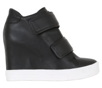 100MM HOHE WEDGE-SNEAKERS AUS NAPPALEDER
