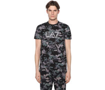 CAMOUFLAGE PRINTED COTTON T-SHIRT