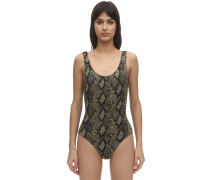 ANN MARIE SNAKE PRINT ONE PIECE SWIMSUIT
