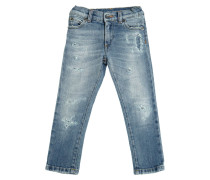 JEANS AUS STRETCH-DENIM IM DESTROYED-LOOK