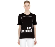 T-SHIRT AUS BAUMWOLLJERSEY 'LOVE MOSCHINO'