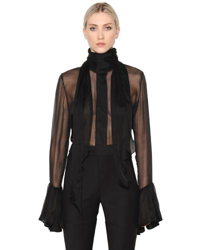ellery damen hemd aus seidenchiffon mit hohem kragen. Black Bedroom Furniture Sets. Home Design Ideas