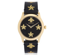 38MM ARMBANDUHR AUS LEDER 'G-TIMELESS BEE & STAR'