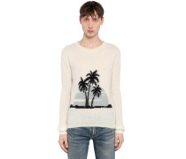 PULLOVER AUS MOHAIRMISCHJACQUARD 'PALMS'