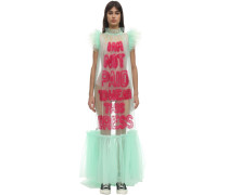 I AM NOT PAID TULLE MAXI DRESS