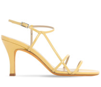 95MM IRENE PATENT LEATHER SANDALS