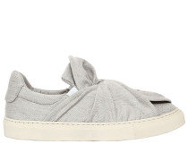 20MM HOHE SLIP-ON-SNEAKERS AUS WOLLMISCHUNG 'KNOT'