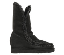 70MM ESKIMO SHEARLING WEDGE BOOTS