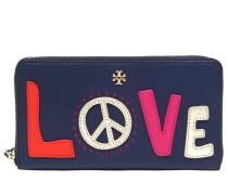 BRIEFTASCHE AUS ZIP 'PEACE AND LOVE'