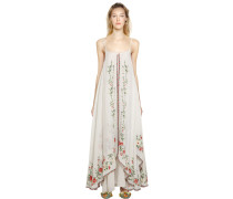 EMBROIDERED COTTON VOILE DRESS