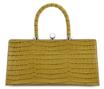 SISTER FRAME CROC EMBOSSED LEATHER BAG