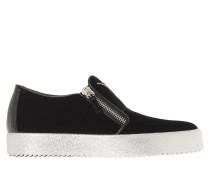 SLIP-ON-SNEAKERS AUS SAMT MIT ZIP