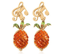 CLIP-OHRRINGE 'PINEAPPLE & MUSIC NOTE'