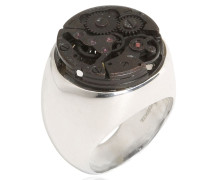 CHEVALIER-STEAMPUNK-RING AUS STERLINGSSILBER