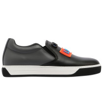 SLIP-ON-SNEAKERS AUS LEDER 'LOVE FENDI'