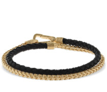 BRAIDED & CHAINED DOUBLE WRAP BRACELET