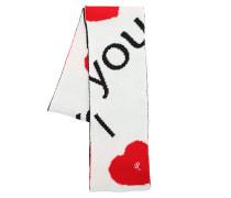 SCHAL AUS WOLLJACQUARD 'I LOVE YOU'