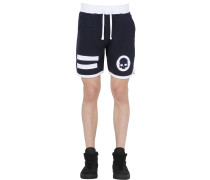 JOGGINGSHORTS AUS BAUMWOLLE MIT PATCHES 'HOCKEY'