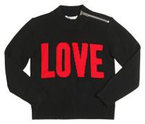 PULLOVER AUS WOLLE UND KASCHMIR 'LOVE'