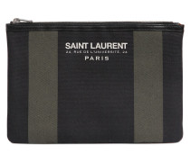 CLUTCH AUS BAUMWOLLCANVAS 'BEACH SAINT LAURENT'