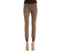 LEGGINGS AUS WOLLJACQUARD 'GG'