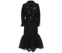 EMBROIDERED NYLON & TULLE TRENCH COAT
