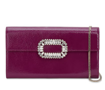 SEXY CHOC CRYSTALS PATENT LEATHER CLUTCH