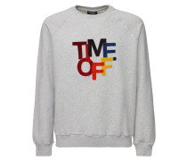 TIME OFF PATCH COTTON JERSEY SWEATSHIRT