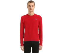 T-REX PATCH WOOL & CASHMERE KNIT PULLOVER