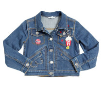 JACKE AUS STRETCH-DENIM MIT PATCHES