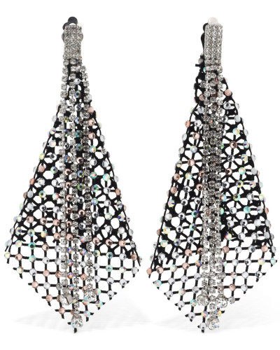 CRESSIDA CRYSTAL NET EARRINGS