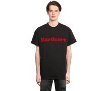 T-SHIRT AUS BAUMWOLLJERSEY 'HARDCORE'