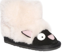 SHEEP FACE FAUX SHEARLING & SUEDE BOOTS
